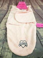 Betsey Johnson Pink Swaddle Sleep Sack Blanket Heart Baby Infant Girl