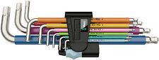 WERA 3950 SPKL/9 Stainless Edelstahl Multicolour Winkelschlüsselsatz 022669