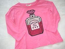 H&M PAILLETTEN Shirt pink Gr. 158 164 ** 3/4 Arm NEU