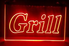 Grill Open 2 size Bar Pub Bbq New Nr club 3d signs led neon light sign home deco