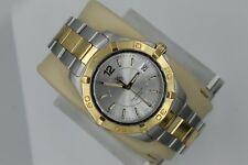Tag Heuer Gold Aquaracer Watch Mens WAF1120.BB0807 $2K 2Tone SS Silver Mint Dial