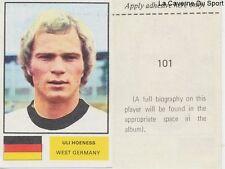 101 ULI HOENESS WEST GERMANY STICKER Soccer Stars WORLD CUP 1974 FKS PUBLISHER