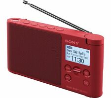 NEW Sony XDR-S41D Tabletop Portable Digital DAB/FM Radio - Red