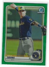 2020 Bowman Chrome Prospects Brice Turang Green Refractor RC 11/99