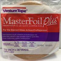Venture Tape - Master Foil Plus Copper Foil 1.25 Mil 7/32 inch x 36 yd.-NEW