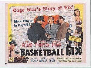 NCAA BASKETBALL Rare Sports Immortals Card 1951 THE FIX MOVIE POSTER DESIGN