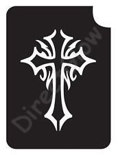 "Celtic Cross 1008 Body Art Glitter Makeup Tattoo Stencil 2.75"" x 3.75""- 5 Pack"