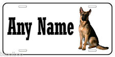 German Shepherd Dog Aluminum Any Name Personalized Car Auto License Plate