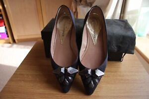 Genuine Emporio Armani Womens Silk Ballerina Flat shoes Size 36