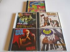 5 Classic Rock Music CDs,Billy Idol/Guess Who/Foghat/ZZ Top/Plainum Hits(various