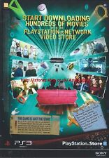 "Playstation Store ""Download Hundreds Movies"" 2010 Magazine Advert #4590"