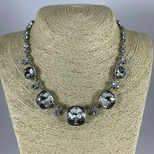 Premier Designs Necklace Clear Crystal Square Rhinestones