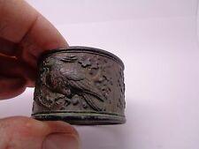 Bronce Chino anillo de servilleta estudiosos sostenedor de papel? con diseño de pájaro