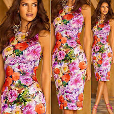 Plus Size Women Gown Party Dress Lady Sleeveless Bodycon Package Hip Slim Dress