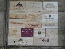 17 estampes bois façades de caisses de vin largeur 100cm X haureur 88cm flammes