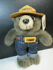 """Original Official Smokey Bear Plush 9"""" Standing Wild Wonders New with Tags"""