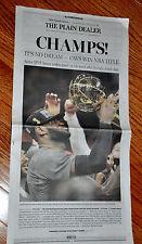 Plain Dealer de Cleveland Cavaliers CAVS todo periódico campeones 2016 finales de la NBA