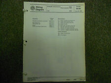 1989 VW Jetta Auto Trans Lights Stereo Radio Wiring Diagram Service Manual JUNE