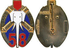 58° Régiment d'Artillerie, SANS PEUR, relief, éléphant, opaque, A.B. 4705 (4010)