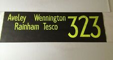 "Rainham Bus Blind 97(42"") 323 Aveley Wennington Rainham Tesco"