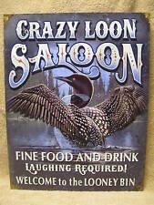 Crazy Loon Salon Tin Metal Sign Decor Crazy Duck FUNNY NEW Alcohol