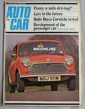 Autocar magazine 6/4/1974 featuring Rolls-Royce Corniche road test