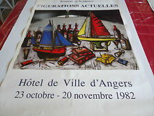 GRANDE AFFICHE AFFICHE.BERNARD BUFFET.1er SALON DAUTOMNE ANGERS.1982.