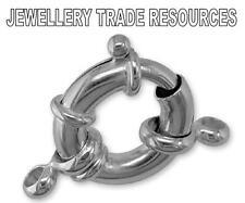 Nuevos De Plata Esterlina 925 Jumbo Perno Anillo la fabricación de joyas capturas Broche 15mm