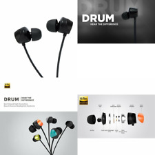 """TUNAI Creative Drum Hi-Res Earphone - In-ear Headphones with Extra Large 1/2"""" Dr"""