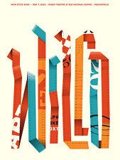 Wilco Gig Poster, Indianapolis 2015 (Original Silkscreen) 18 x 24' Print