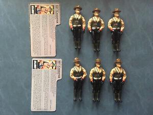 1985 GI JOE Sgt. Slaughter Figure Lot Leg Color Variation
