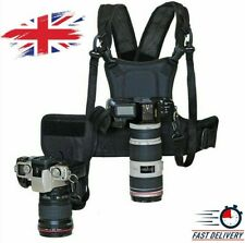 Dual Camera Carrier 2 Multi Carrying Chest Harness System Vest Quick Strap Relea