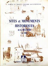 *SITES,MONUMENTS HISTORIQUES DE LA BIGORRE en 1842*p/CH. DES MOULINS/DE GOURGUES