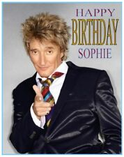 PERSONALISED ROD STEWART BIRTHDAY CAKE TOPPER A4 ICING SHEET10x8 anyNAMEage