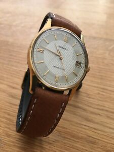 ZENITH Cosmopolitan gold-plated wristwatch