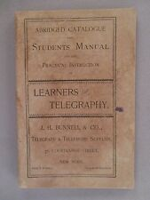J.H. Bunnell CATALOG - 1892 ~~ Manual of Telegraphy, telephone supplies