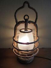 Luminaire Vintage 50 Exceptionelle lampe Tempête Cordage DLG Audoux-Minet