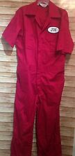 Walls Master Made Red Coveralls Size 40