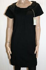 RIVERS Brand Black Button Collar Short Sleeve Tunic Dress Size 14 BNWT #TQ107