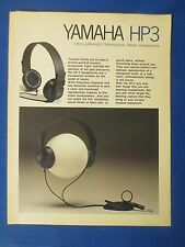 YAMAHA HP3 HEADPHONES SALES BROCHURE ORIGINAL FACTORY ISSUE THE REAL THING