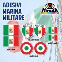 KIT Adesivi Stickers AUTOCOLLANT BANDIERA MARINA MILITARE ITALIANA TRICOLORE