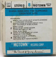 Diana Ross & The Supremes - Greatest Hits 8-Track Tape  MOT-8 1663