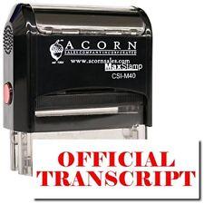 MaxStamp - Self-Inking Official Transcript Stamp (Black Ink)