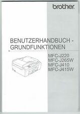 Brother Fax Drucker Handbuch Anleitung MFC-J220 MFC-J265W MFC-J410 MFC-J415W