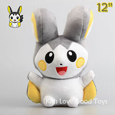 Pokemon Emolga Emonga Plush Toy Stuffed Animal Doll 30cm 12'' Teddy Kids Gift