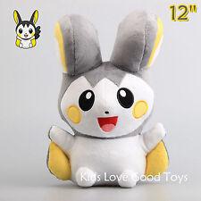 Pokemon Emolga Emonga Plush Toy Stuffed Animal Doll 30cm 12'' Teddy Kids Gift