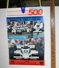 1984 DOMINO'S PIZZA 500 POCONO CART PPG RACING POSTER FABI SKOAL 12 X 18 COLOR