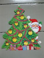 VINTAGE Christmas Tree SANTA CLAUS DIECUT PAPER DECORATION with PRICE TAG !!