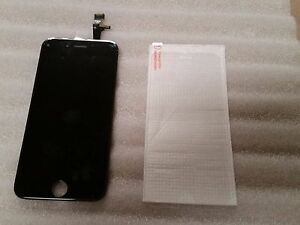 Iphone 6 Plus + Black LCD Digitizer Screen VERIZON AT&T 5.5 Tempered Glass