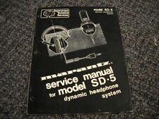 MARANTZ SD-5. Service Manual Original Paper